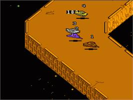 In game image of Galaxy 5000: Racing in the 51st Century on the Nintendo NES.
