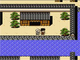 In game image of Ganbare Goemon Gaiden 2: Tenka no Zaihou on the Nintendo NES.