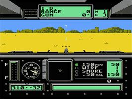 In game image of Garry Kitchen's Battletank on the Nintendo NES.