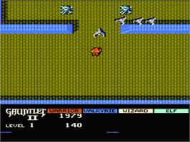 In game image of Gauntlet II on the Nintendo NES.