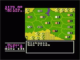 In game image of Genghis Khan on the Nintendo NES.