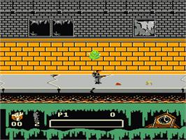 In game image of Ghostbusters 2 on the Nintendo NES.