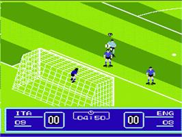 In game image of Goal! Two on the Nintendo NES.