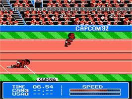 In game image of Gold Medal Challenge '92 on the Nintendo NES.