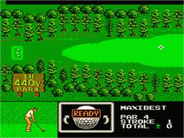 In game image of Golf Grand Slam on the Nintendo NES.