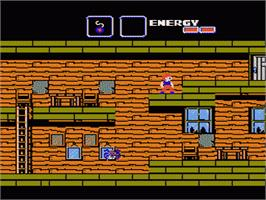 In game image of Goonies 2 on the Nintendo NES.