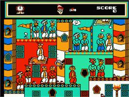 In game image of Great Waldo Search on the Nintendo NES.