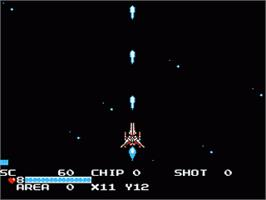 In game image of Guardian Legend on the Nintendo NES.