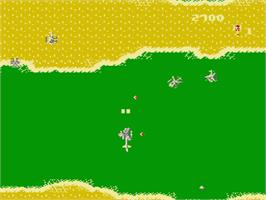 In game image of Gyrodine on the Nintendo NES.