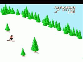 In game image of Heavy Shreddin' on the Nintendo NES.