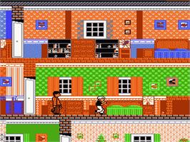 In game image of Home Alone on the Nintendo NES.