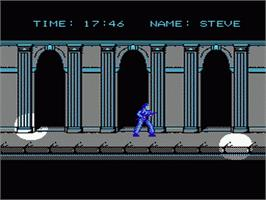 In game image of Hostage: Rescue Mission on the Nintendo NES.