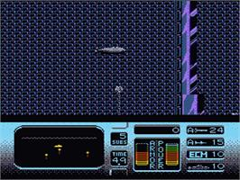 In game image of Hunt for Red October on the Nintendo NES.