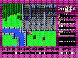 In game image of Hydlide on the Nintendo NES.