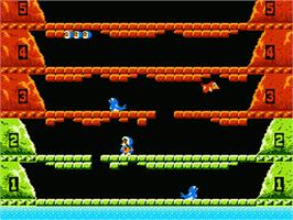 In game image of Ice Climber on the Nintendo NES.