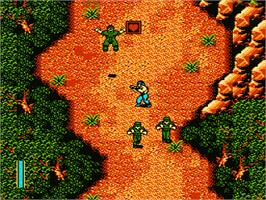 In game image of Ikari III - The Rescue on the Nintendo NES.
