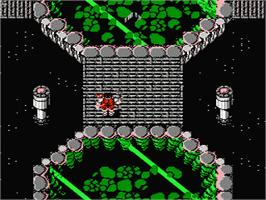In game image of Ikari Warriors 2 on the Nintendo NES.