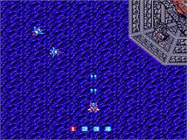 In game image of Image Fight on the Nintendo NES.