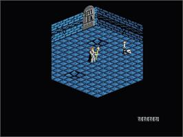 In game image of Immortal on the Nintendo NES.