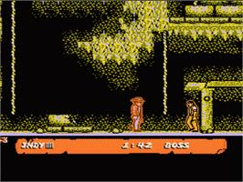 In game image of Indiana Jones and the Last Crusade on the Nintendo NES.