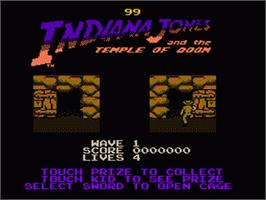 In game image of Indiana Jones and the Temple of Doom on the Nintendo NES.
