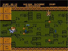 In game image of Insector-X on the Nintendo NES.