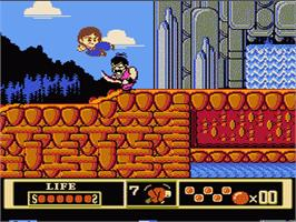 In game image of Jackie Chan's Action Kung Fu on the Nintendo NES.