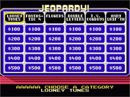 In game image of Jeopardy! Junior Edition on the Nintendo NES.