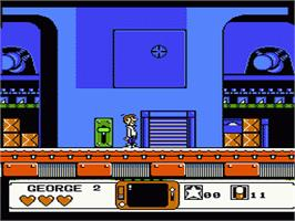 In game image of Jetsons: Cogswell's Caper on the Nintendo NES.
