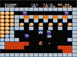 In game image of Joshua & the Battle of Jericho on the Nintendo NES.
