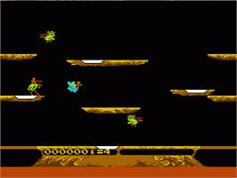In game image of Joust on the Nintendo NES.