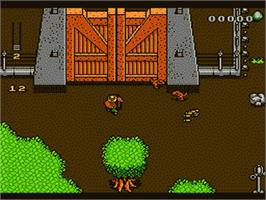 In game image of Jurassic Park on the Nintendo NES.