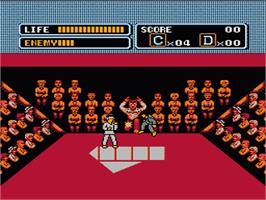 In game image of Karate Kid on the Nintendo NES.