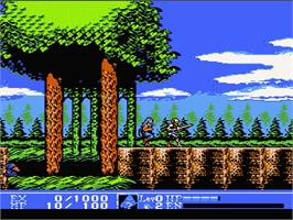 In game image of Kick Master on the Nintendo NES.