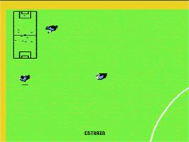 In game image of Kick Off on the Nintendo NES.