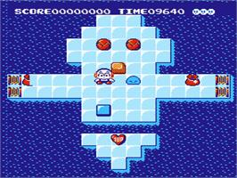 In game image of Kickle Cubicle on the Nintendo NES.