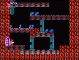 In game image of Kid Icarus on the Nintendo NES.