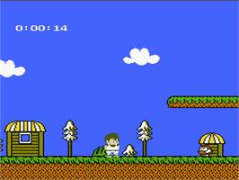 In game image of Kid Kool and the Quest for the Seven Wonder Herbs on the Nintendo NES.