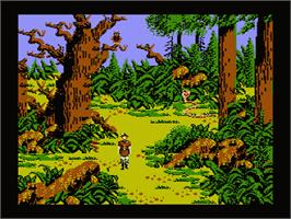 In game image of King's Quest V: Absence Makes the Heart Go Yonder on the Nintendo NES.