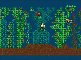 In game image of King Neptune's Adventure on the Nintendo NES.