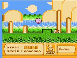 In game image of Kirby's Adventure on the Nintendo NES.