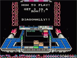 In game image of Klax on the Nintendo NES.