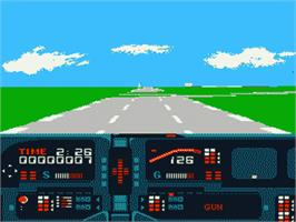 In game image of Knight Rider on the Nintendo NES.
