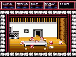 In game image of Legacy of the Wizard on the Nintendo NES.