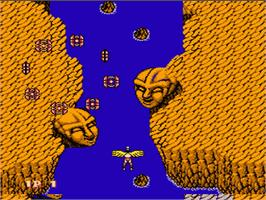 In game image of Legendary Wings on the Nintendo NES.