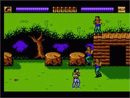 In game image of Lethal Weapon on the Nintendo NES.