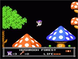 In game image of Little Nemo: The Dream Master on the Nintendo NES.