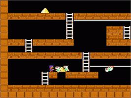 In game image of Lode Runner on the Nintendo NES.