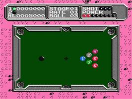 In game image of Lunar Pool on the Nintendo NES.