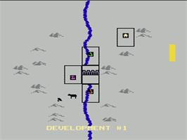 In game image of MULE on the Nintendo NES.